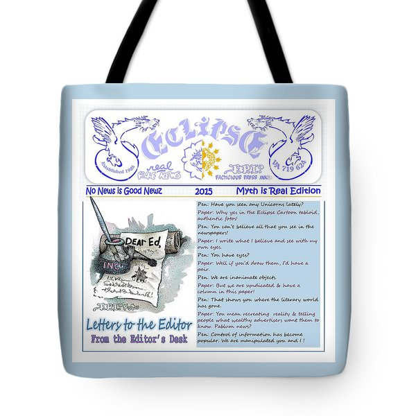 Real Fake News Letters To The Editor Tote Bag