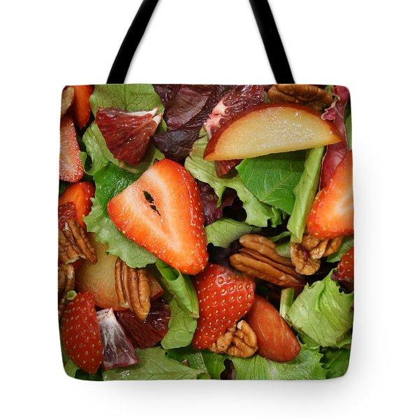 Lettuce Strawberry Plum Salad Tote Bag