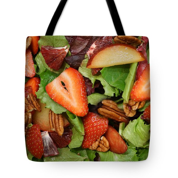 Lettuce Strawberry Plum Salad Tote Bag