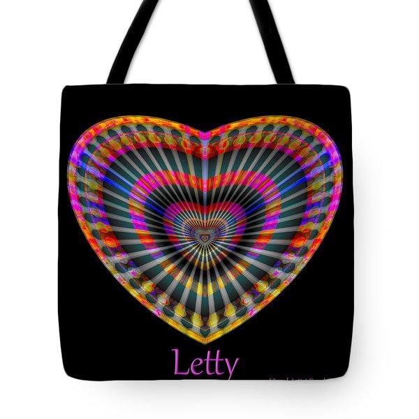 Tote Bag featuring the digital art Letty by Visual Artist Frank Bonilla