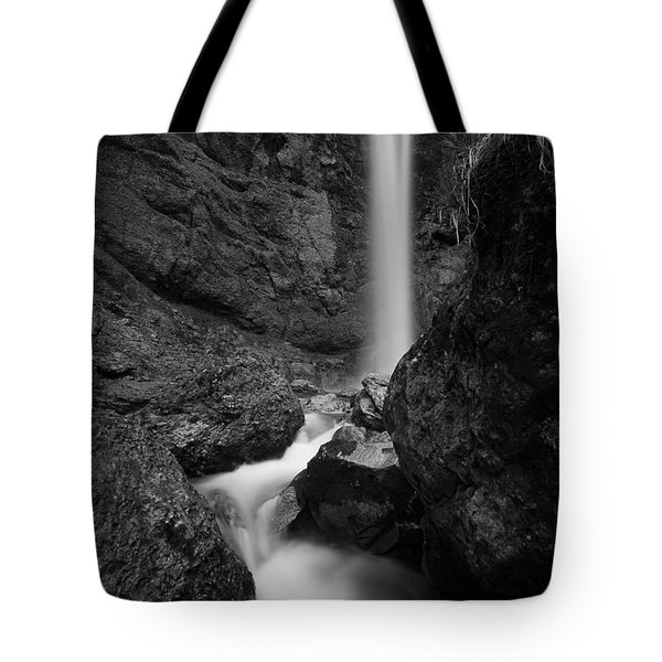 Leuenfall In Black And White Tote Bag