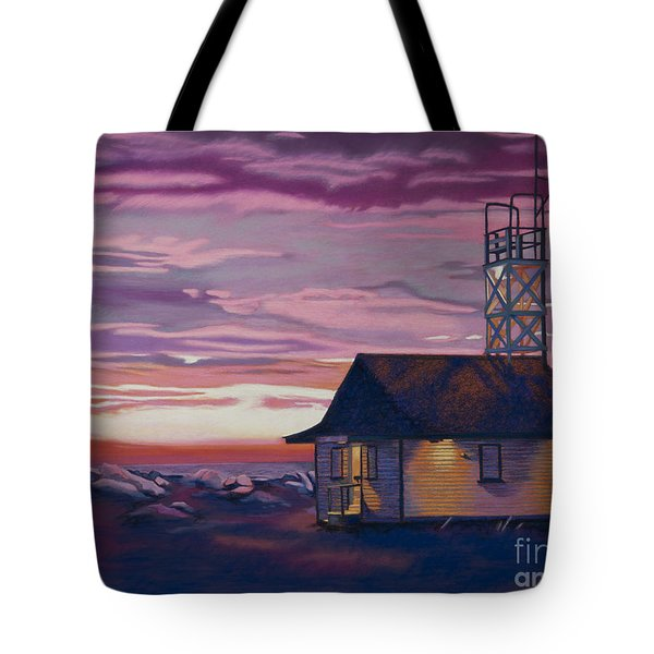 Leuty Life Guard House Tote Bag by Tracy L Teeter