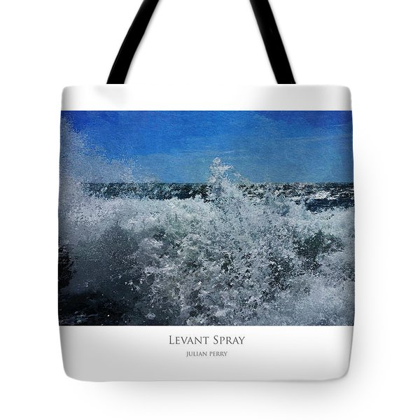 Tote Bag featuring the digital art Levant Spray by Julian Perry