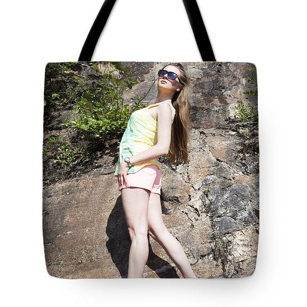 Levitating Girl Tote Bag