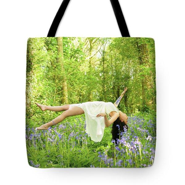 Levitation In Bluebells Tote Bag