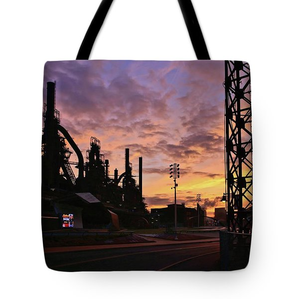 Tote Bag featuring the photograph Levitt Pavilion by DJ Florek