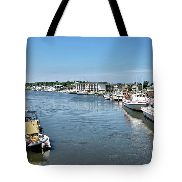Tote Bag featuring the photograph Lewes Delaware by Brendan Reals