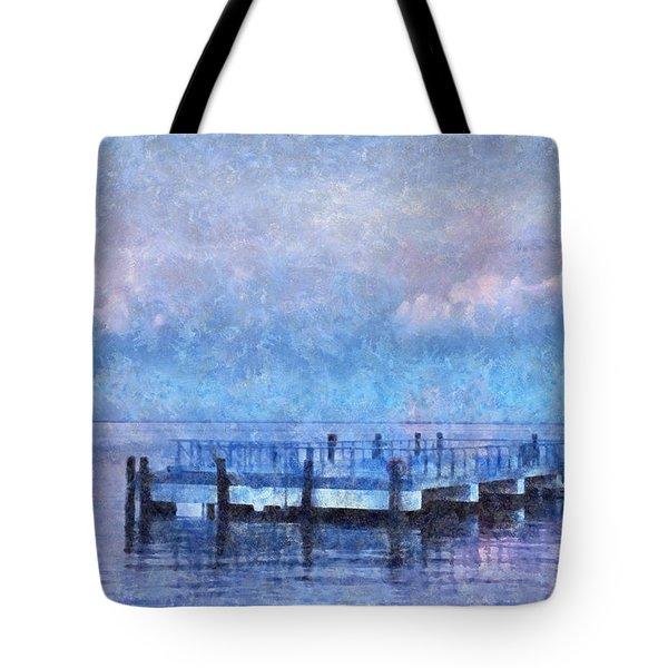 Lewes Pier Tote Bag by Trish Tritz