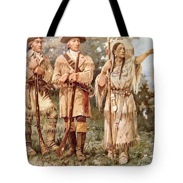 Lewis And Clark With Sacagawea Tote Bag
