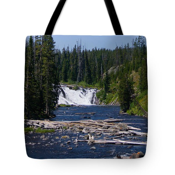 Lewis Falls Yellowstone Tote Bag
