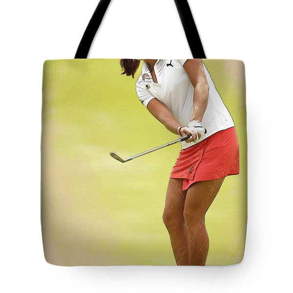 Lexi Thompson Chips To The First Green  Tote Bag