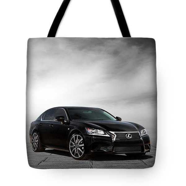 Tote Bag featuring the digital art Lexus Gs350 F Sport by Peter Chilelli