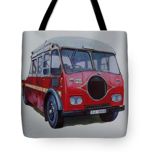 Tote Bag featuring the painting Leyland Wrecker Cie by Mike Jeffries