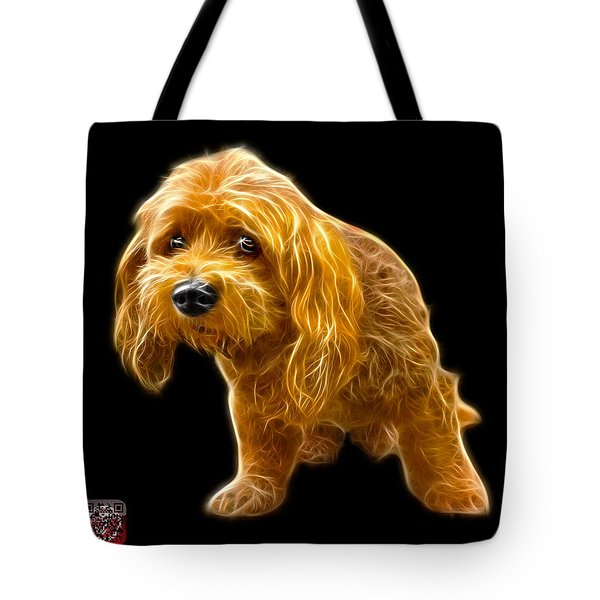 Tote Bag featuring the painting Lhasa Apso Pop Art - 5331 - Bb by James Ahn