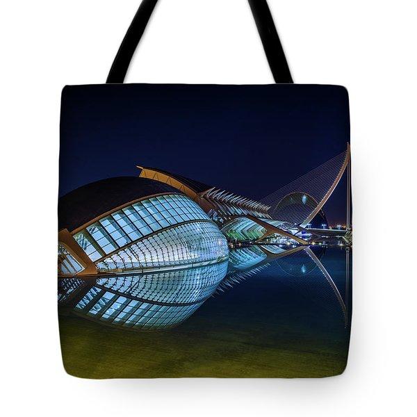 L'hemisferic In Valencia Tote Bag