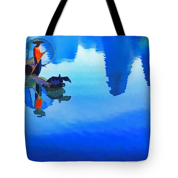 Tote Bag featuring the photograph Li River Reflections by Dennis Cox WorldViews