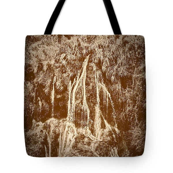 Tote Bag featuring the photograph Li River Waterfall by Tom Vaughan