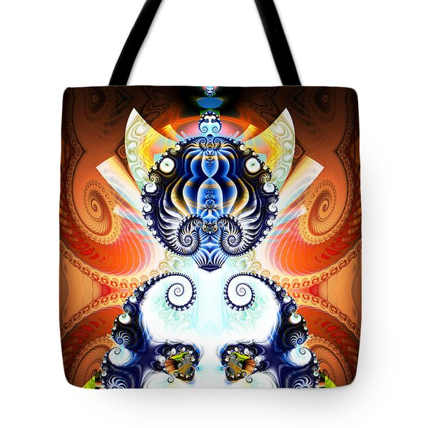 Li Shou - Ancient Chinese Cat Goddess Tote Bag by Jim Pavelle