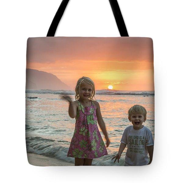 Liam And Makena Tote Bag
