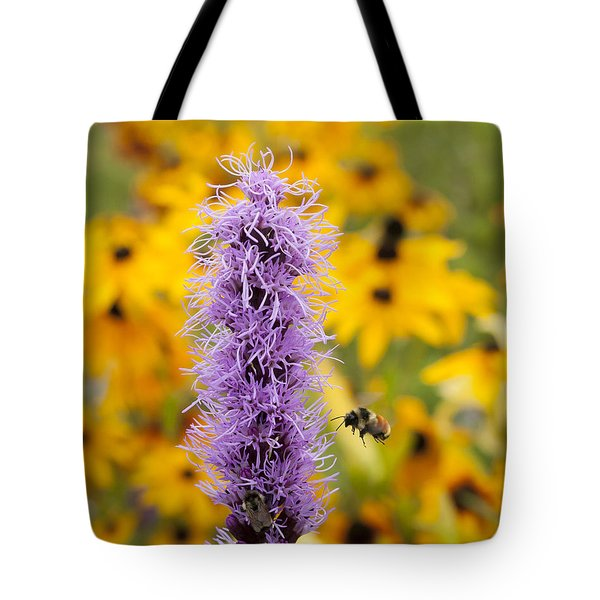 Liatris And The Bees Tote Bag