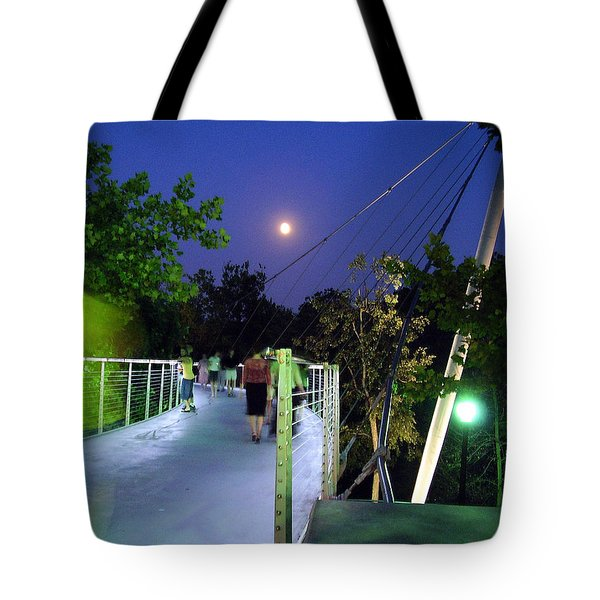 Liberty Bridge At Night Greenville South Carolina Tote Bag