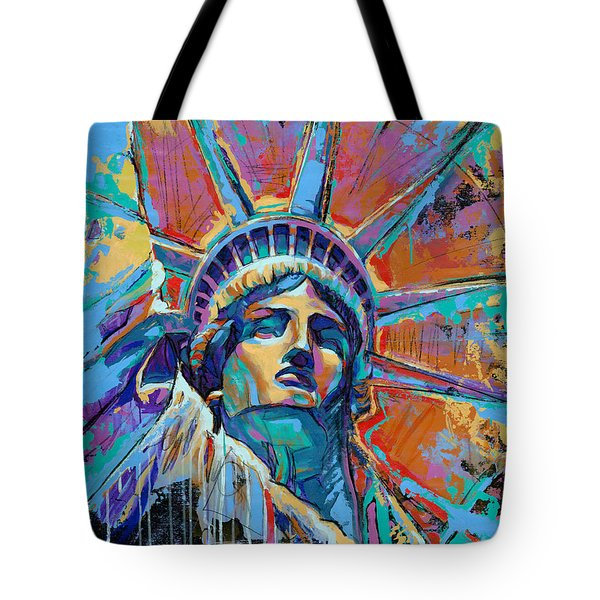 Liberty In Color Tote Bag by Damon Gray