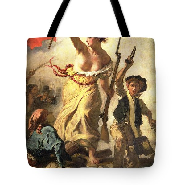 Liberty Leading The People Tote Bag by Ferdinand Victor Eugene Delacroix