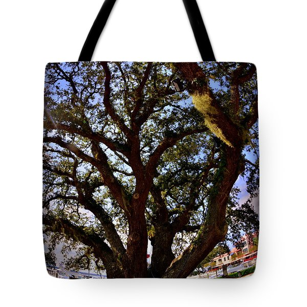 Tote Bag featuring the photograph Liberty Oak Harbour Town Hilton Head Sc by Lisa Wooten