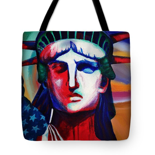 Liberty Of Statue New York 98jhm Tote Bag by Gull G