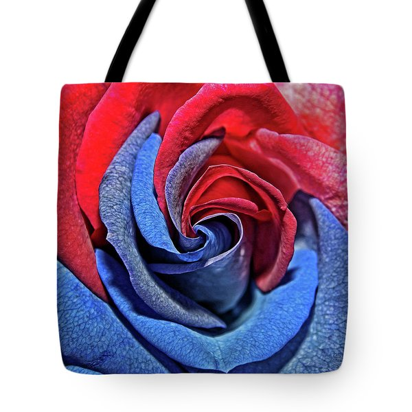 Tote Bag featuring the photograph Liberty Rose by Judy Vincent