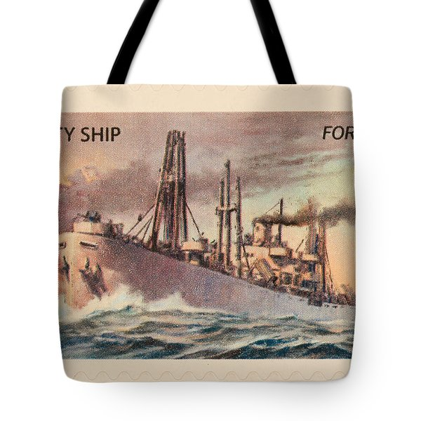 Liberty Ship Stamp Tote Bag