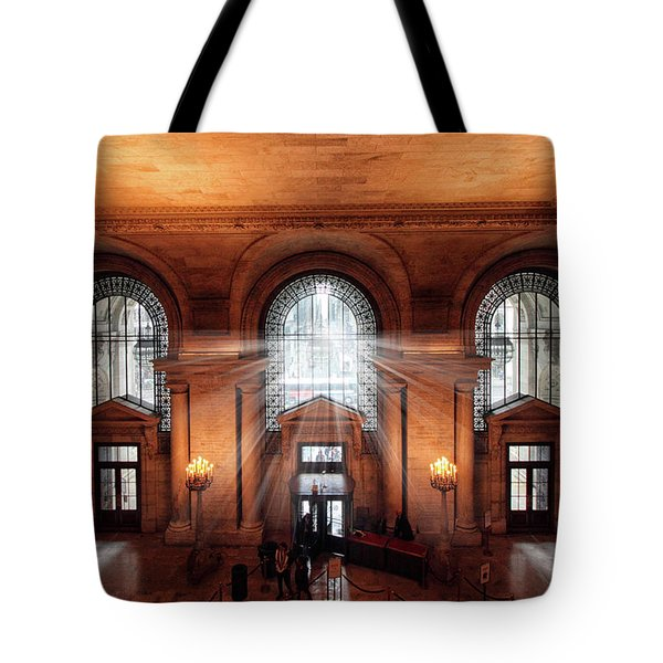 Tote Bag featuring the photograph Library Entrance by Jessica Jenney