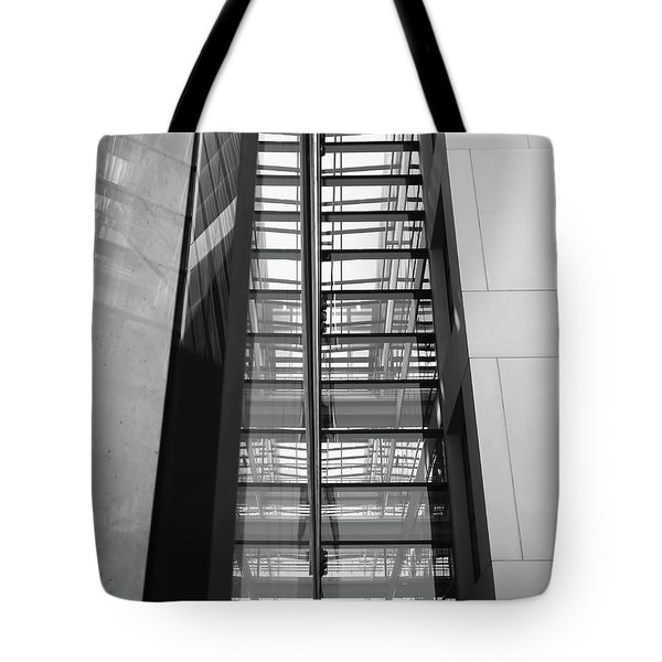 Tote Bag featuring the photograph Library Skyway by Rona Black