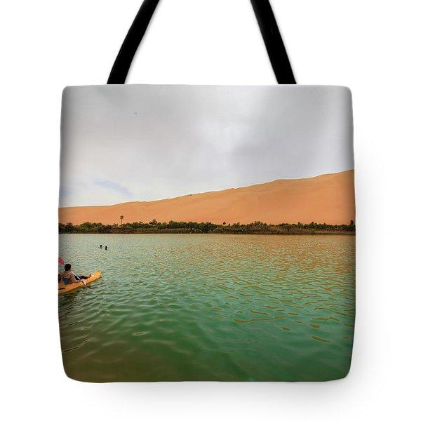 Libyan Oasis Tote Bag