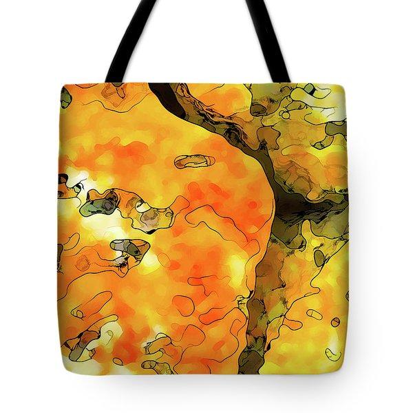 Lichen Abstract Tote Bag