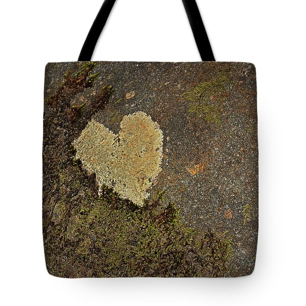 Tote Bag featuring the photograph Lichen Love by Mike Eingle
