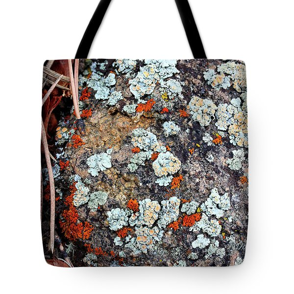 Lichen With Pine Tote Bag