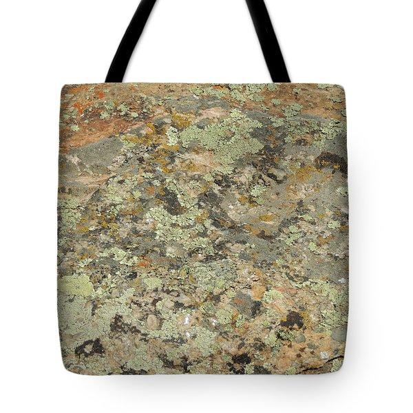 Lichens On Boulder Tote Bag