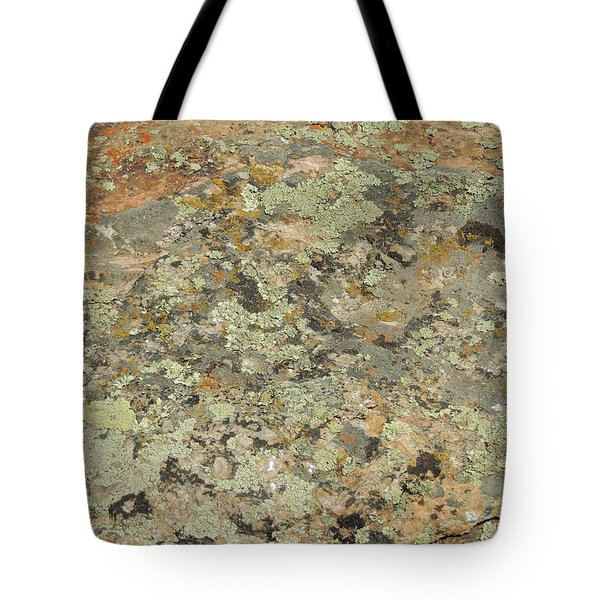 Lichens On Boulder Tote Bag