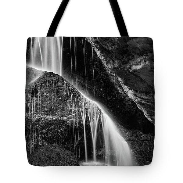 Lichtenhain Waterfall - Bw Version Tote Bag