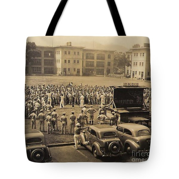 Tote Bag featuring the digital art Lick The Chicks by Walter Chamberlain