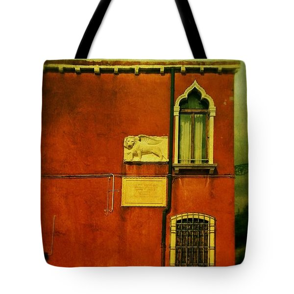 Tote Bag featuring the photograph Lido Lion by Anne Kotan