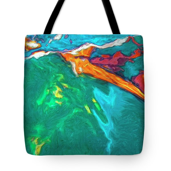 Tote Bag featuring the painting Lies Beneath by Dominic Piperata