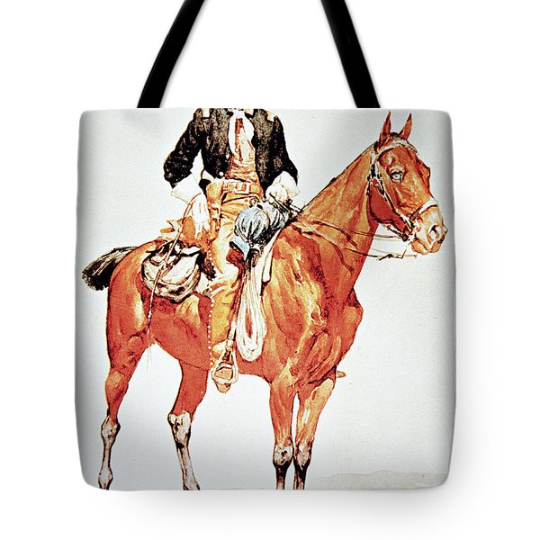 Lieutenant S C Robertson, Chief Of The Crow Scouts Tote Bag