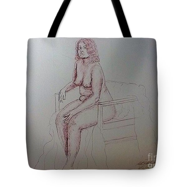 Life Drawing Nude Lady Tote Bag