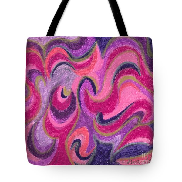 Tote Bag featuring the painting Life Energy by Ania M Milo