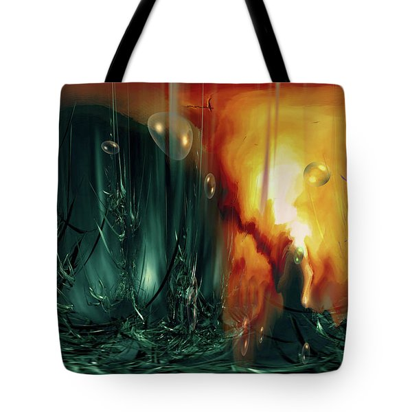 Tote Bag featuring the digital art Life Form Ends by Linda Sannuti