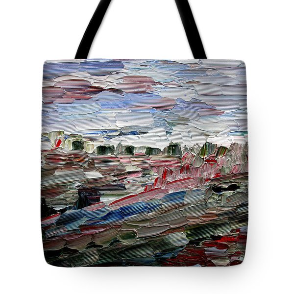 Tote Bag featuring the painting Life Goes On by Vadim Levin
