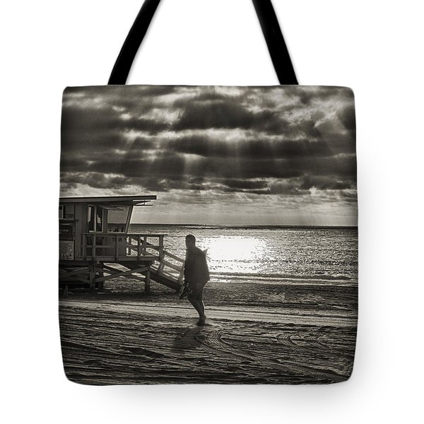 Tote Bag featuring the photograph Life Guard Duty by Joseph Hollingsworth
