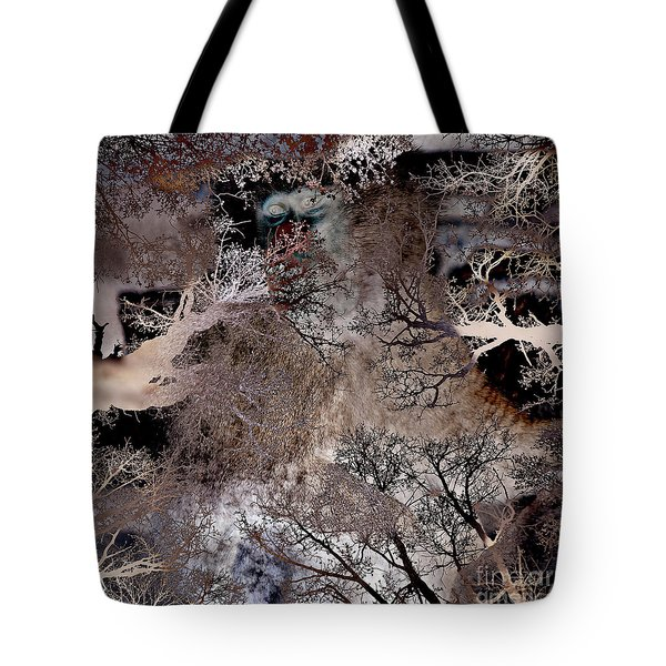 Tote Bag featuring the digital art Life In A Bush Of Ghosts by Silva Wischeropp